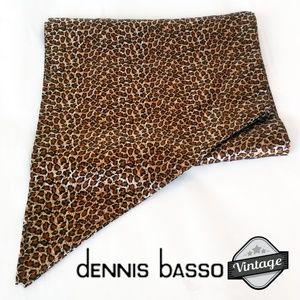 Vintage Dennis Basso Leopard Print Scarf XS